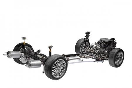 Bild på motorsystemet i en bil