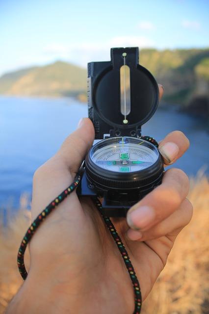 Bild på en kompass